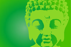 зеленый цвет Будды Стоковые Фото
