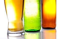 зеленый цвет бутылок нижний коричневый Стоковая Фотография