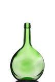 зеленый цвет бутылок одно Стоковая Фотография