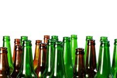 зеленый цвет бутылок пива коричневый стеклянный Стоковое фото RF