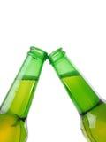 зеленый цвет бутылок пива Стоковая Фотография RF