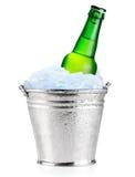 зеленый цвет бутылок пива Стоковые Изображения