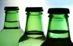 зеленый цвет бутылок Стоковые Фотографии RF