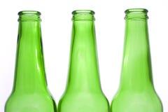 зеленый цвет бутылок Стоковые Фото