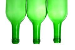 зеленый цвет бутылок Стоковая Фотография