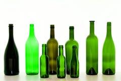 зеленый цвет бутылок Стоковые Изображения RF