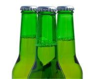 зеленый цвет бутылок 3 пива Стоковые Фотографии RF