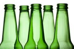 зеленый цвет бутылок Стоковое Изображение RF