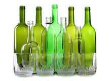 зеленый цвет бутылок beaker Стоковые Изображения