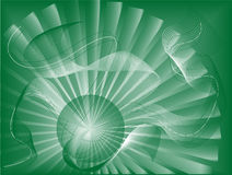 зеленый цвет вентилятора Стоковые Изображения RF
