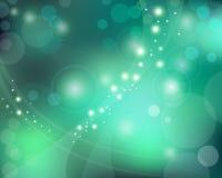зеленый цвет влияния bokeh предпосылки голубой Стоковое Фото