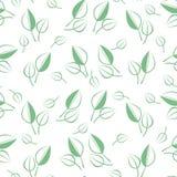зеленый цвет выходит картина безшовной Стоковые Изображения RF