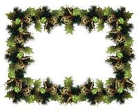 зеленый цвет гирлянды рождества граници Стоковые Фотографии RF