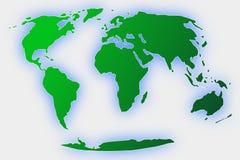 зеленый цвет глобуса земли весь Стоковые Фотографии RF