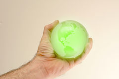 зеленый цвет глобуса Стоковая Фотография