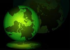 зеленый цвет глобуса Стоковые Изображения RF