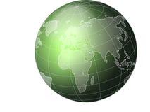 зеленый цвет глобуса Стоковое Изображение