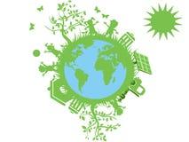 зеленый цвет глобуса eco Стоковые Фото
