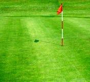 зеленый цвет гольфа курса Стоковые Изображения
