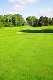 зеленый цвет гольфа курса Стоковая Фотография RF
