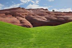 зеленый цвет гольфа поля Стоковые Изображения RF