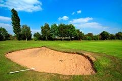 зеленый цвет гольфа поля Стоковое фото RF
