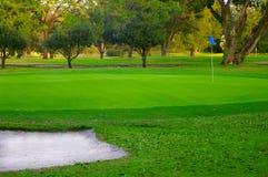 зеленый цвет гольфа Стоковое Фото