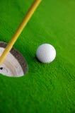 зеленый цвет гольфа Стоковые Фотографии RF
