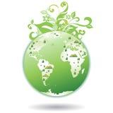 зеленый цвет города выходит мир Стоковая Фотография