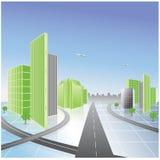 зеленый цвет города Стоковые Фото