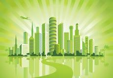 зеленый цвет города Стоковое фото RF
