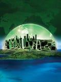 зеленый цвет города Стоковое Фото