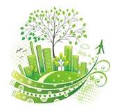 зеленый цвет города Стоковые Изображения RF