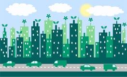 зеленый цвет города Стоковое Изображение