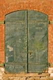 зеленый цвет дверей Стоковое Изображение RF