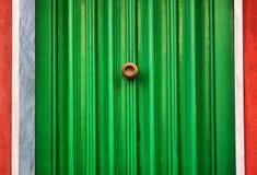 зеленый цвет двери Стоковые Изображения RF