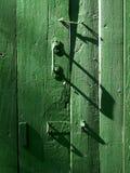 зеленый цвет двери Стоковое Изображение RF