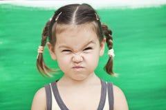 зеленый цвет девушки предпосылки Стоковая Фотография