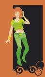 зеленый цвет девушки Стоковое фото RF