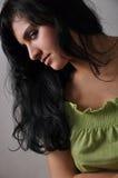 зеленый цвет девушки Стоковое Изображение RF