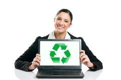 зеленый цвет дела рециркулирует Стоковые Изображения RF