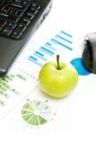 зеленый цвет дела яблока Стоковые Изображения RF