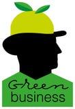 зеленый цвет дела Стоковое Изображение
