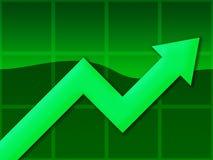 зеленый цвет диаграммы Стоковые Фото