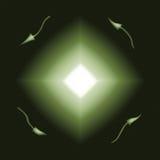 зеленый цвет диаманта взрыва дирекционный Стоковое фото RF