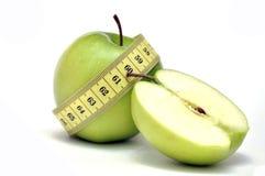 зеленый цвет диетпитания яблока стоковые фото