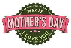 зеленый цвет дня 13 значков может быть матерью розового s Стоковое Фото