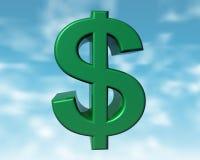 зеленый цвет доллара Стоковая Фотография