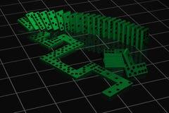 зеленый цвет домино Стоковая Фотография
