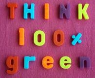 зеленый цвет думает Стоковое Изображение RF